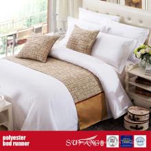 Chemin de lit coloré de tissu de décoration de poly
