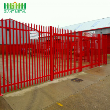Europe heavy duty steel palisade fence