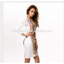 2017 Wholesale Summer Fashion Women Sexy Bondage Office Dress long sleeve dress