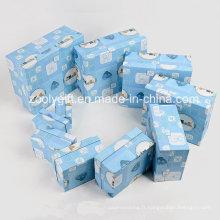 Boîte de rangement en papier de luxe personnalisée Boîte de rangement pour cadeau pour décorateur de papier pour bébé