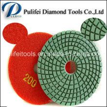 Outils de diamant abrasifs de surface en pierre polissant le tampon de granit de marbre
