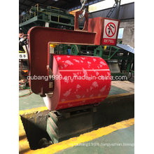 Pre-Painted Galvanized Steel Coil with Red Flower Red Base Export to Korea