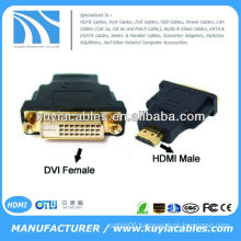 DVI-D Dual Link female 24+1 to HDMI male F/M adapter