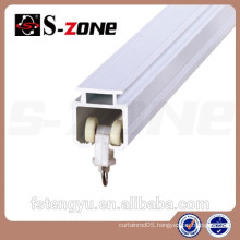 White Plastic Rail Ceiling For Curtain Stretches Flowing PVC Curtain Rail Ceiling Track