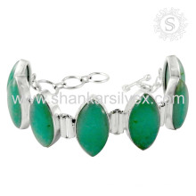 Belle bracelet en argent de pierres précieuses en onyx Bracelet en argent sterling avec bijoux en argent sterling 925