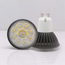 GU10 3W 85-265V Proyector blanco caliente del LED