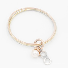Nouveaux bijoux de mode empilables avec breloques perle et infini