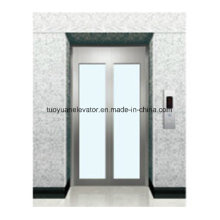 Glass Landing Door with Stainless Steel Frame