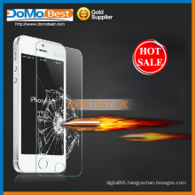 9H 0.33mm screen protector for cell phone , 2.5D round edge Tempered Glass Screen Protector for iphone 5s