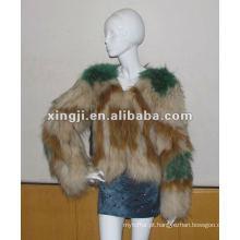 casaco de pele real do cão de guaxinim