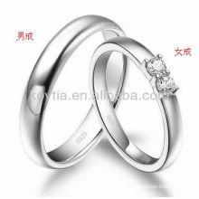 CZ diamond jewelry couple silver rings