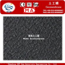 Geomembrana de HDPE liso texturizado de baixo preço para a lagoa de sal