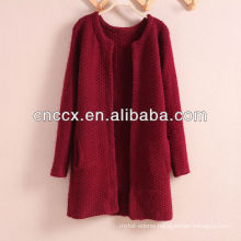 PK17ST242 ladies long cardigan sweater coat