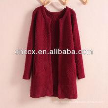 PK17ST242 senhoras longo cardigan suéter casaco