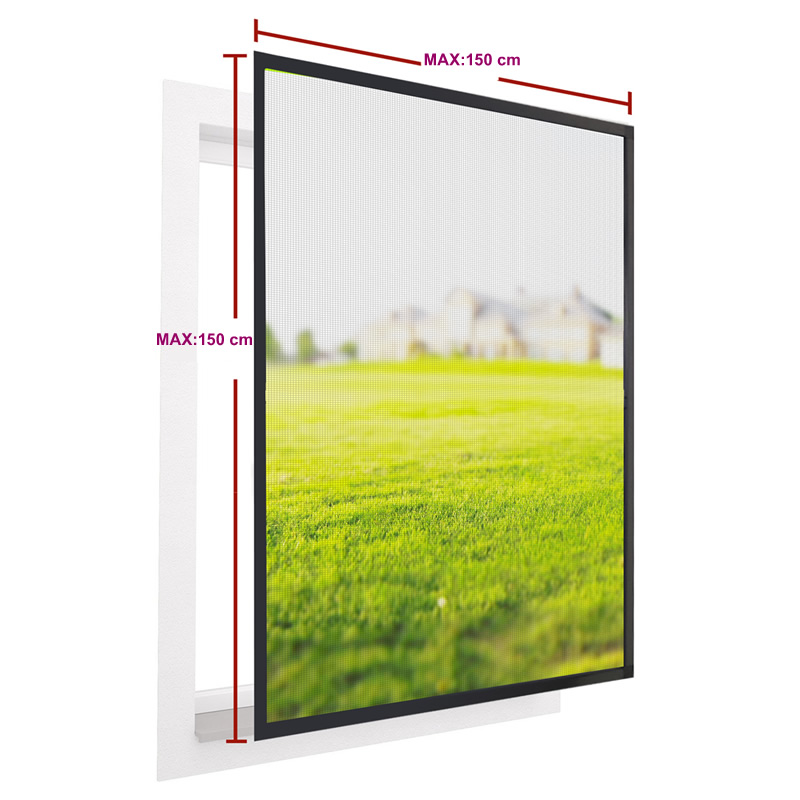 Aluminium mosquito net window with fiberglass screen