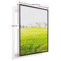Aluminum fix window screen with fiberglass screen