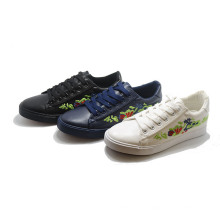 Inwought Flower Vulcanization Injection Casual School Femmes Chaussures