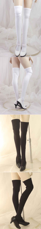 BJD Socks Lady White/Black High Stockings