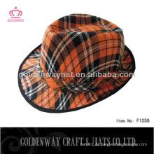 Günstige orange Fedora Hut von Polyester hergestellt