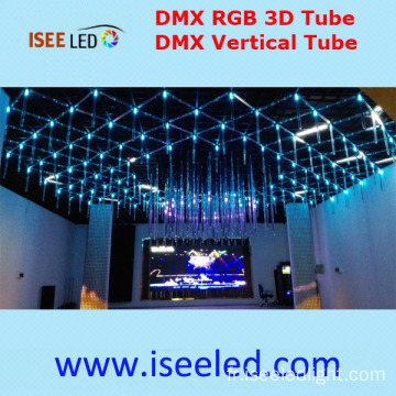 360degree visualisation Madrix 3D LED Tube RGB coloré