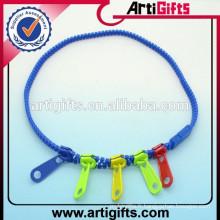 Ensembles de collier fantaisie collier en plastique à glissière