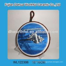 Tapis en céramique en coton avec design océan