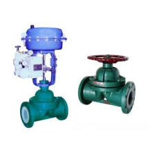 PTFE Lined Pneumatic Weir Type Diaphragm Valve (G641F)