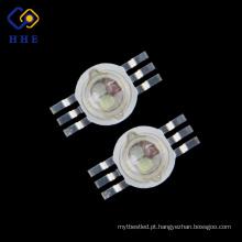 O poder superior conduziu 3 pinos da cor completa 6 * 3W RGB 700mA para a iluminação da fase