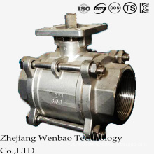 3PC Female Thread Platform Ball Valve with ISO Mounting Pad