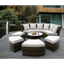 Открытый сад набор мебели из ротанга патио Wicker кушетка