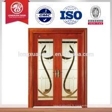 Porte coulissante en bois pour portes vitrées