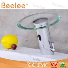 Brass Glass Automatic Sensor Faucet Mixer Qh0109A