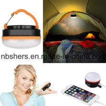Мини перезаряжаемые светодиодные кемпинга и чрезвычайных фонарь USB-выходе 180lm