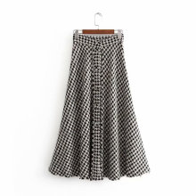 Winter Women Yarn-dyed Half-length Skirt