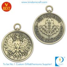 Kundenspezifisches billiges Metall-antikes Messing-Medaillen-Logo 3D für Andenken-Geschenk
