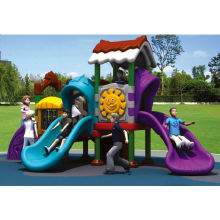 Amusement park outdoor full plastic playground equipments of (LE.QS.001)