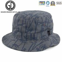 Cool Cap de pescador de la moda de bambú de impresión algodón Bucket Hat
