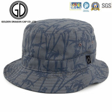 Cool Fashion Fisherman Cap Bamboo Printing Cotton Bucket Hat