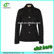 Casaco acolchoado de algodão de estilo curto e fino