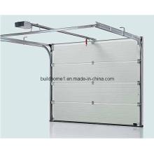 Porte de garage en aluminium sectionnelle en tête
