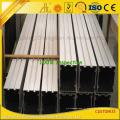 Fornecedores de extrusão de alumínio fornecendo perfil de alumínio de parede de vidro Customzied