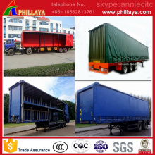 Side Wall Steel / Curtain Optional Truck Semi Box Trailer