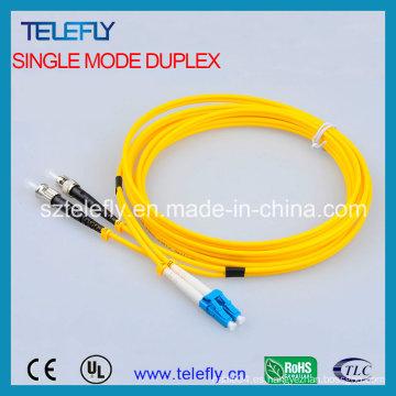 FC-LC Duplex Cable de fibra de un solo modo