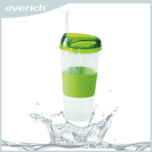 Wholesale new design straw water plastic tumbler