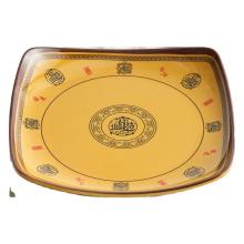 Attractive price  melamine tableware  dinner plate square vermicelli plate
