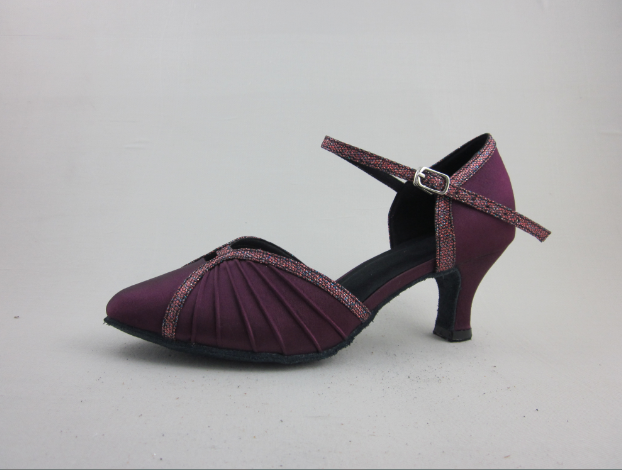 Girls Purple Ballroom Shoes