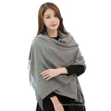 2017 hiver couleur unie plaine faux cachemire inde pashmina foulards pashmina châles du pakistan