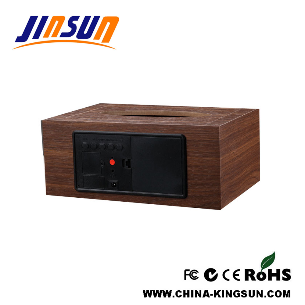 Tissue Box With Led Clock Back