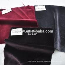 Rote Farbe 100% hochwertiger Baumwolle Samt Stoff Großhandel