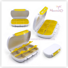 Boîte de médecine en plastique ovale de 6 grilles